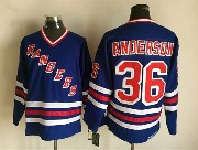 Mens Nhl New York Rangers #36 Anderson Light Blue (2015 New No Cord) Throwbacks Jersey