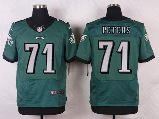 Mens Nfl Philadelphia Eagles #71 Peters Green (2014 New) Elite Jersey