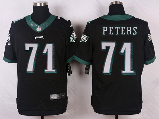 Mens Nfl Philadelphia Eagles #71 Peters Black (2014 New) Elite Jersey