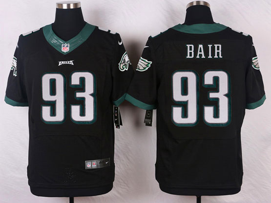 Mens Nfl Philadelphia Eagles #93 Bair Black (2014 New) Elite Jersey