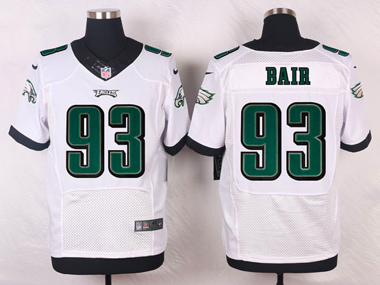 Mens Nfl Philadelphia Eagles #93 Bair White (2014 New) Elite Jersey
