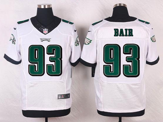 Mens Nfl Philadelphia Eagles #93 Bair White (2014 New) Elite Jersey