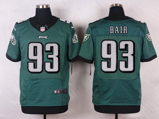 Mens Nfl Philadelphia Eagles #93 Bair Green (2014 New) Elite Jersey
