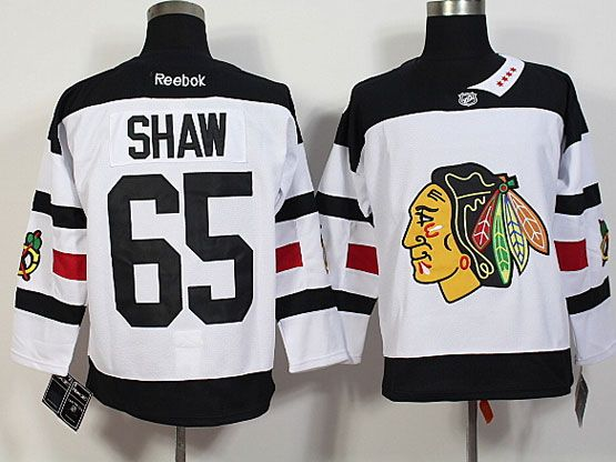 Mens Reebok Nhl Chicago Blackhawks #65 Shaw White (2016 Stadium Series) Jersey