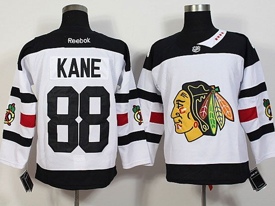 Mens Reebok Nhl Chicago Blackhawks #88 Kane White (2016 Stadium Series) Jersey