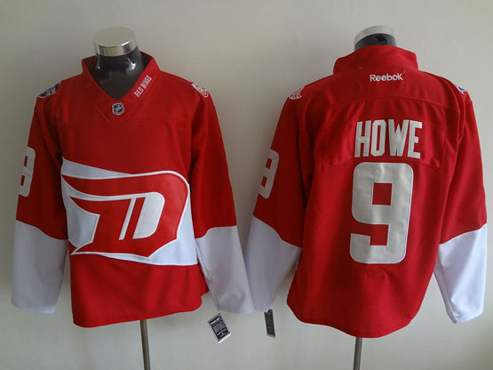 Mens Reebok Nhl Detroit Red Wings #9 Howe Red (2016 Stadium Series) Jersey
