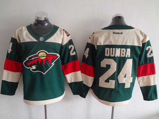 Mens Reebok Nhl Minnesota Wild #24 Dumba Green (2016 Stadium Series) Jersey