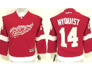 youth reebok nhl detroit red wings #14 nyquist red Jersey