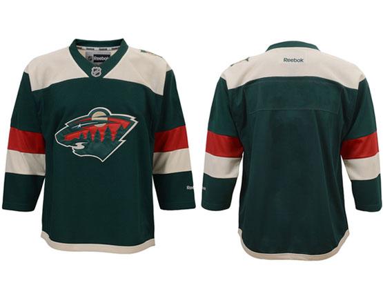 Nhl Minnesota Wild (custom Made) Green (2016 Stadium Series) Jersey