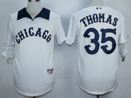 Mens Mlb Chicago White Sox #35 Thomas White 1976 Turn Back The Clock Throwbacks Pullover Jersey