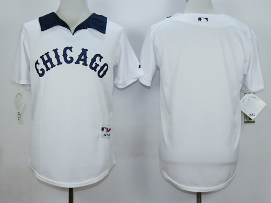 Mens Mlb Chicago White Sox (blank) White 1976 Turn Back The Clock Throwbacks Pullover Jersey
