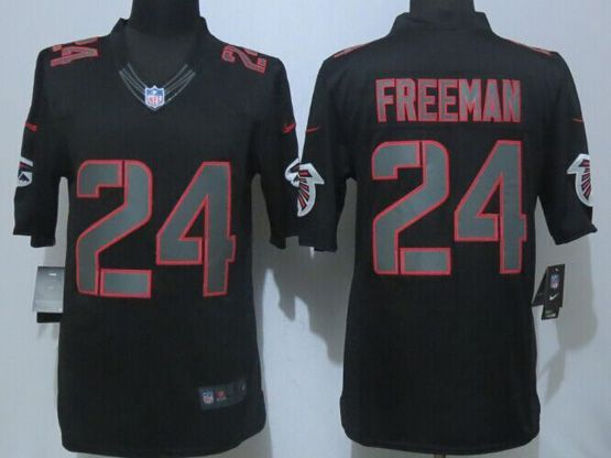 Mens Nfl Atlanta Falcons #24 Freeman Black Impact Limited Jersey