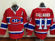Mens Reebok Nhl Montreal Canadiens #11 Gallagher Red (ch) Lacing Jersey