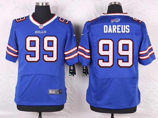 Mens Nfl Buffalo Bills #99 Marcell Dareus Blue Elite Jersey