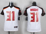 Youth Nfl Tampa Bay Buccaneers #31 Wright White Game Jersey