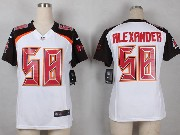 Women  Nfl Tampa Bay Buccaneers #58 Alexander White Game Jersey
