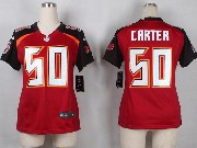 Women  Nfl Tampa Bay Buccaneers #50 Carter Red Game Jersey