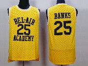 Mens Nba Movie The Fresh Prince Of Bel-air Academy #25 Banks Gold Jersey