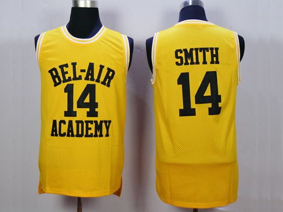 Mens Nba Movie The Fresh Prince Of Bel-air Academy #14 Will Smith Gold Jersey