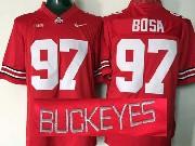 Mens Ncaa Nfl Ohio State Buckeyes #97 Bosa Red (collar Team Name) Jersey