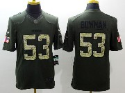 mens nfl San Francisco 49ers #53 NaVorro Bowman green salute to service limited jersey
