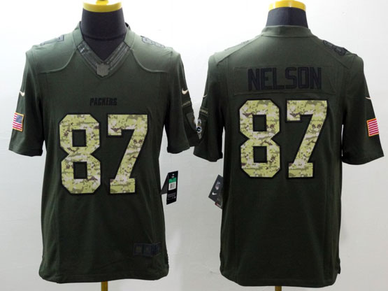 Mens Nfl Green Bay Packers #87 Nelson Green Salute To Service Limited Jersey