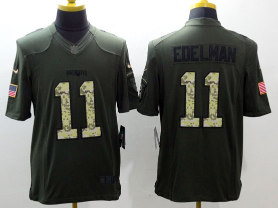 Mens Nfl New England Patriots #11 Eoelman Green Salute To Service Limited Jersey