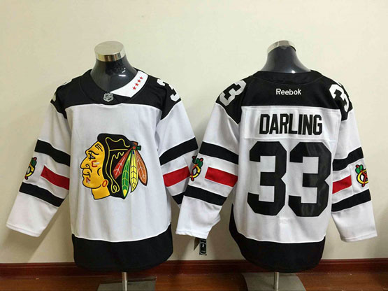 Mens Reebok Nhl Chicago Blackhawks #33 Darling White (2016 Stadium Series) Jersey Sn