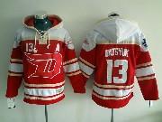 mens nhl Detroit Red Wings #13 Pavel Datsyuk red hoodie (2016 stadium series) jersey