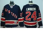 Mens reebok nhl new york rangers #24 lindberg dark blue 85th Jersey