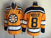 Mens nhl boston bruins #8 neely yellow winter classic with a Jersey