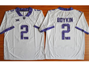 Mens Ncaa Nfl Tcu Horned Frogs #2 Boykin White Jersey
