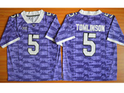 Mens Ncaa Nfl Tcu Horned Frogs #5 Tomlinson Purple Jersey