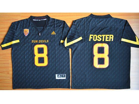 Mens Ncaa Nfl Arizona State Sun Devils #8 Foster Dark Blue Jersey