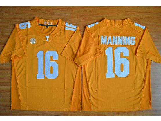 Mens Ncaa Nfl Texas Longhorns #16 Manning Orange Jersey