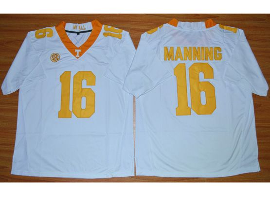 Mens Ncaa Nfl Texas Longhorns #16 Manning White Jersey