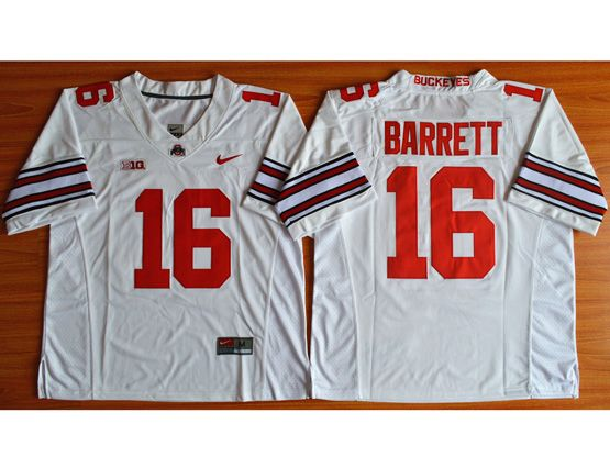 Mens Ncaa Nfl Ohio State Buckeyes #16 Barrett White (collar Team Name) Jersey