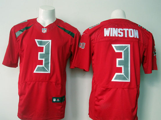 mens nfl Tampa Bay Buccaneers #3 Jameis Winston red (2016 new) elite jersey