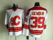 Mens Nhl Calgary Flames #39 Gilmour White Throwbacks Jersey