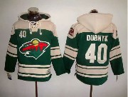 Mens Nhl Minnesota Wild #40 Dubnyk Green (2016 Stadium Series) Hoodie Jersey