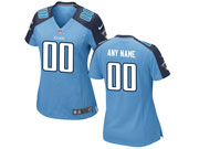 Women Nfl Tennessee Titans (custom Made) Light Blue Game Jersey