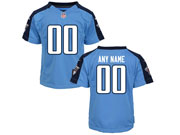 Youth Nfl Tennessee Titans (custom Made) Light Blue Game Jersey