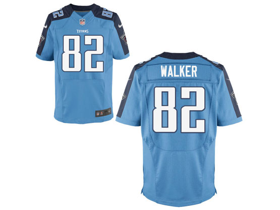 mens nfl tennessee titans #82 walker Light Blue elite jersey