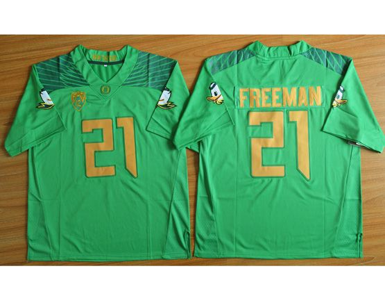 Mens Ncaa Nfl Oregon Ducks #21 Freeman Green (gold Number) Jersey