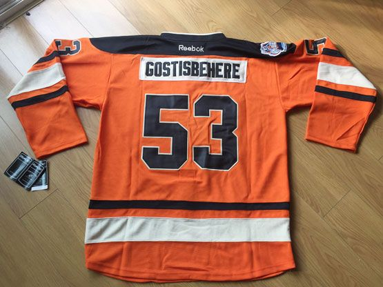 Mens Nhl Philadelphia Flyers #53 Shayne Gostisbehere Orange Winter Classic Jersey