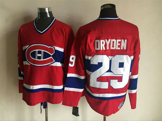 Mens Nhl Montreal Canadiens #29 Dryden Red Throwbacks Jersey Dt