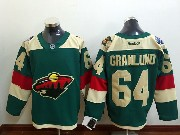Mens Reebok Nhl Minnesota Wild #64 Granlund Green (2016 Stadium Series) Jersey