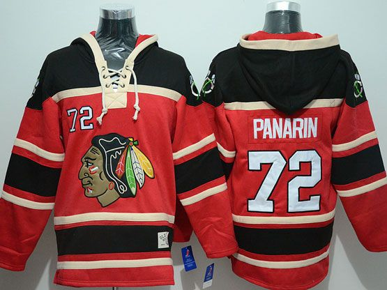 Mens nhl chicago blackhawks #72 panarin red hoodie Jersey