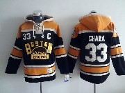 Mens nhl boston bruins #33 chara black (2016 winter classic) hoodie Jersey