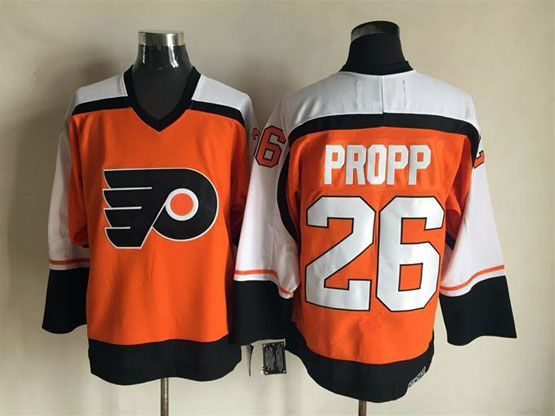 Mens Nhl Philadelphia Flyers #26 Propp Orange Throwbacks Jersey